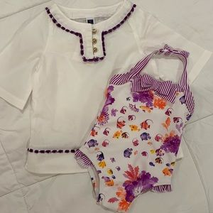 Janie and Jack coverup and swimsuit